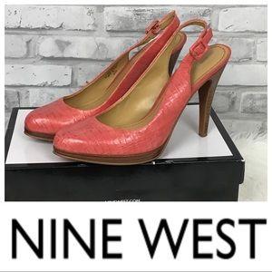NWOT Nine West Ricci Slingback Leather Heel 8.5